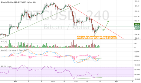 BTCUSD: Path to breaking 255