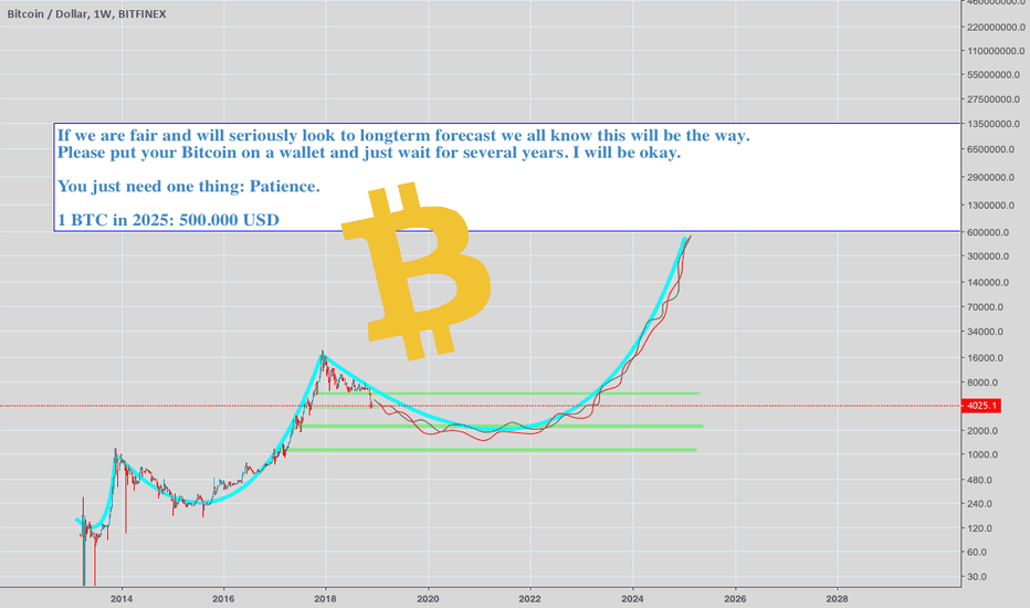 BTCUSD: When 500,000 USD for 1 BITCOIN //// FAIR PREDICTION