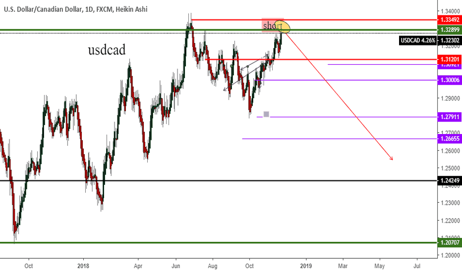 USDCAD: long term trade (2019) target 1.21