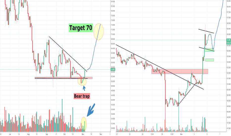 LTCUSD: LTC Litecoin, Bear trap and Counter Move to 70?