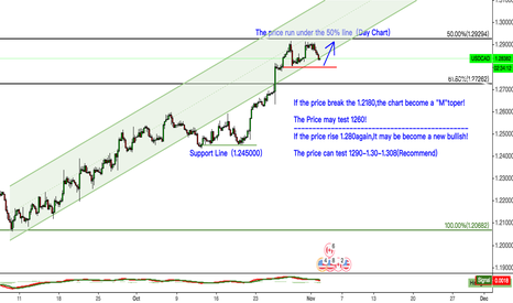 USDCAD: USDCAD If the price rise 1.280again,It may be become a new bulli