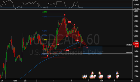 USDCAD: Harmonic Gartley