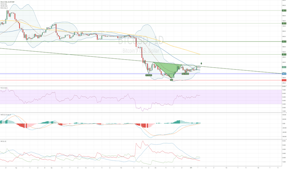BTCUSD: Bitcoin Possible Reversal Chart Pattern