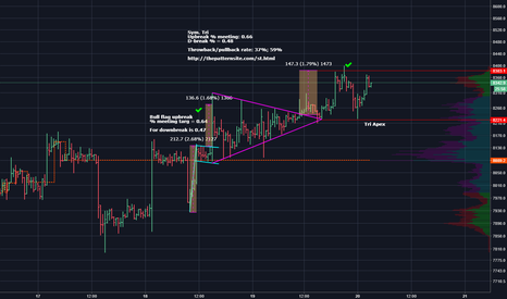 XBTUSD: We could see a return to the sym tri apex