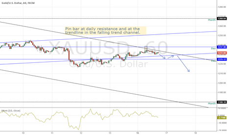 XAUUSD: Gold at Resistance
