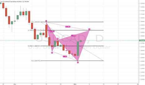 USDCAD: Cypher on USDCAD daily