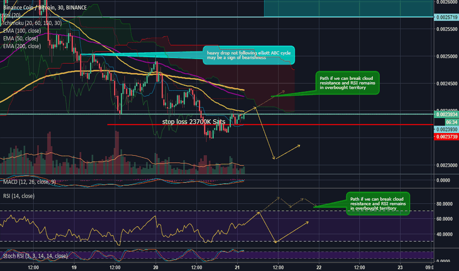 BNBBTC: BNB Path over the next day or so