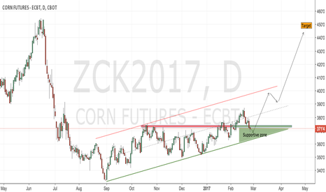 ZCK2017: CBoT corn daily