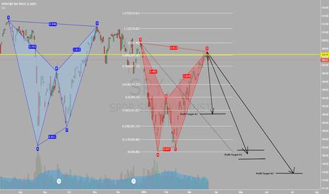SPY: S&P 500 Bearish Bat Pattern