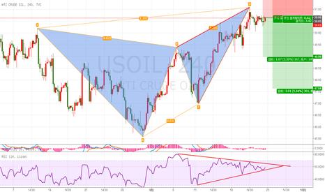 USOIL: 原油蝴蝶模式,50.6附近做空,止损51.3,目标48.5.