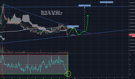 NXTBTC: Buy now for 5% profits, sell on top, buy again on breakout for 2