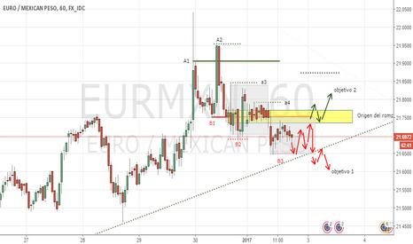 EURMXN: Vision de EURO/MEXICAN, Dos posibles escenarios.