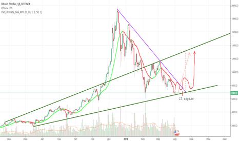 BTCUSD: Возможно рынок готовится к развороту. Пин Бар в действии.