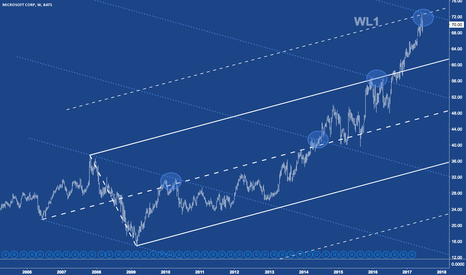MSFT: MSFT has arrived at the upper warning line.