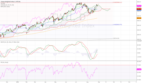 TWII: Taiwan Weighted Stock Index Daily (30.08.2014)Technical Analysis