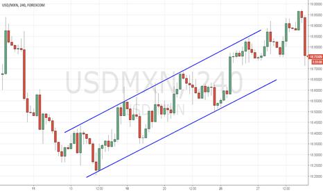USDMXN: Ascending channel