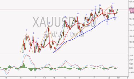 XAUUSD: 黄金30分钟线段分析
