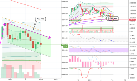 BTCUSD: Bullish flag forming on the 1H?