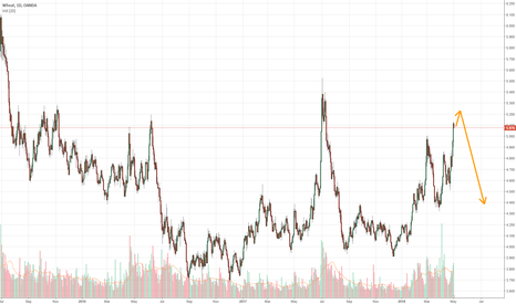 WHEATUSD: Wheat overbought with exhaustion signs