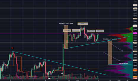 BTCUSD: Here's a potential complicated head and shoulders with target