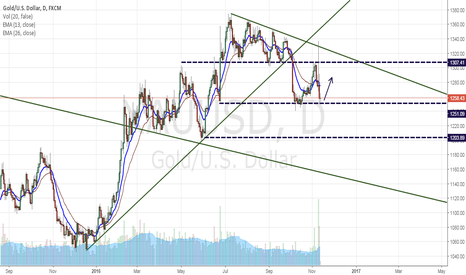 XAUUSD: major support of gold?
