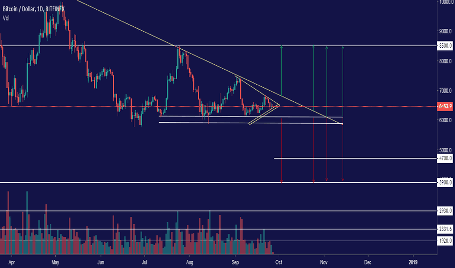 BTCUSD: BTC to 3900$ or 8500$ ?