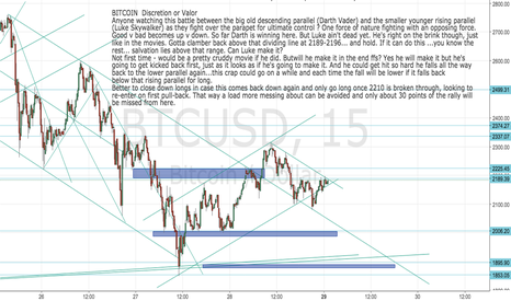 BTCUSD: BITCOIN: BTCUSD  Discretion or Valor