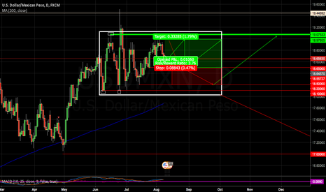 USDMXN: 1st Long position WARNING..