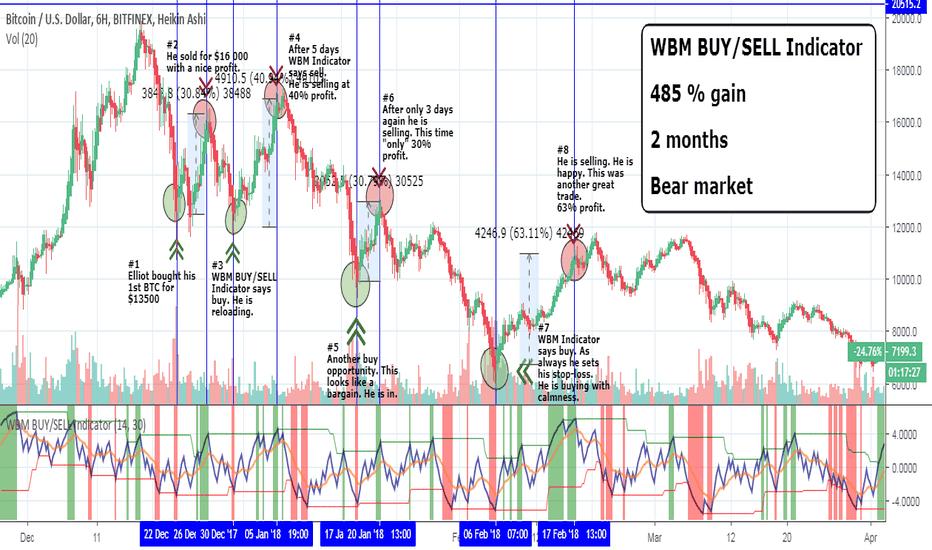 BTCUSD: BTC – Be Like Elliot! 480% Gain in 2 Months On Bear Market.