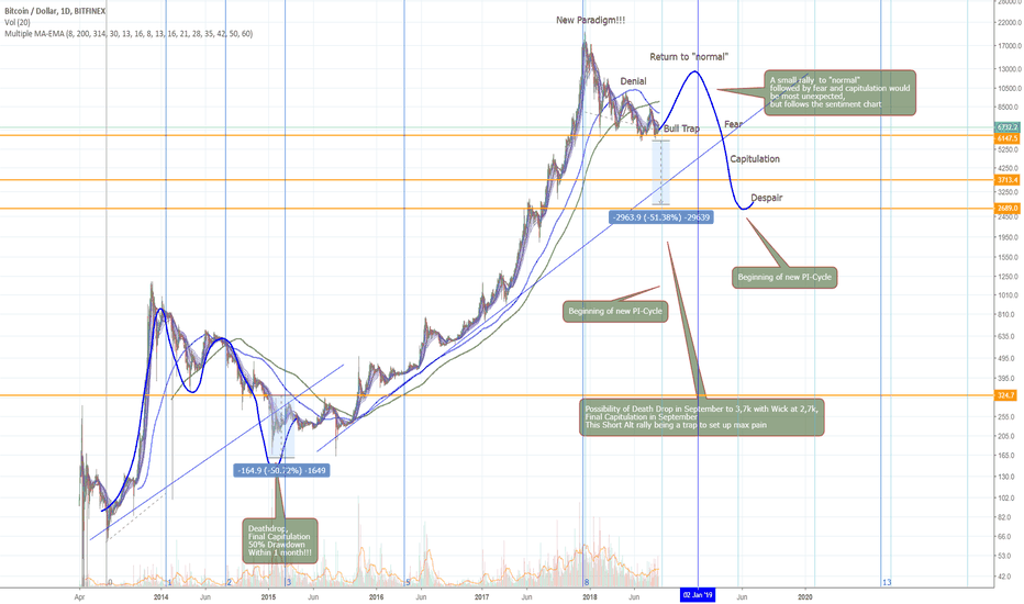"""BTCUSD: BTC Return to """"Normal"""" followed by Fear and Capitulation."""