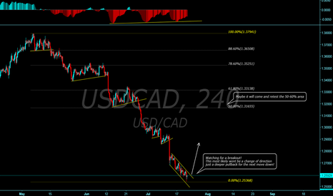 USDCAD: USDCAD time for a bigger retrace?
