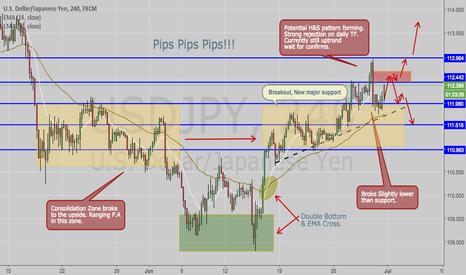 USDJPY: USD/JPY- Potential Reversal