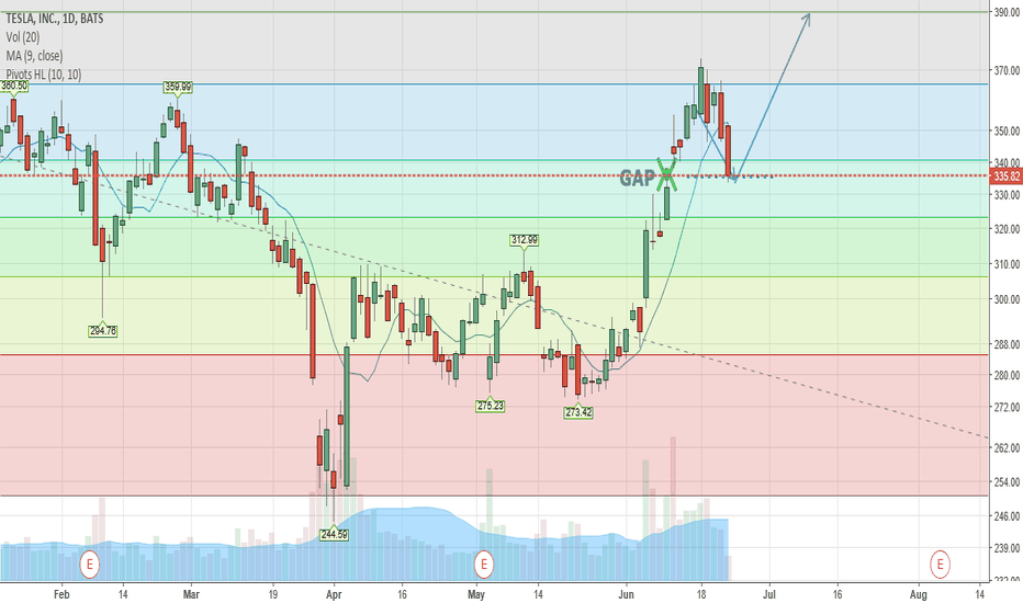 TSLA: The Gap is closed, let's go for our new target $390