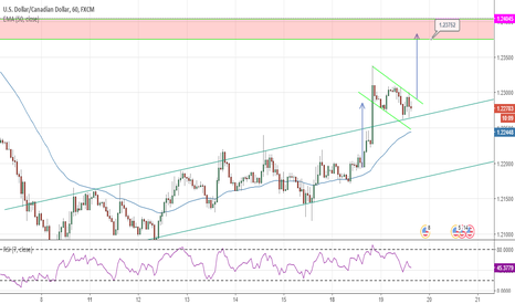 USDCAD: USD/CAD Bullish flag