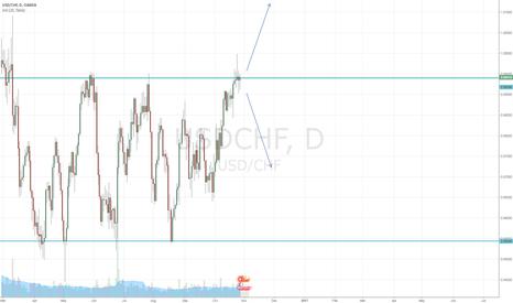 USDCHF: Dollar/Franc Movement Incoming