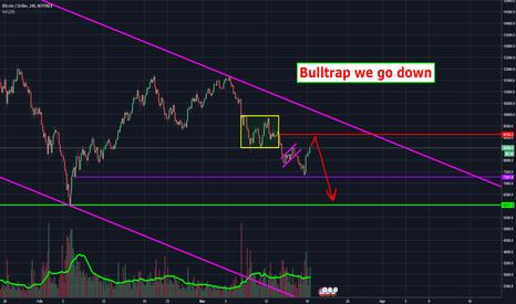 BTCUSD: Bitcoin Bull Trap - Down We Go