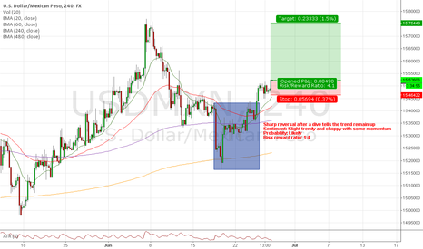 USDMXN: Trade #20: Long USDMXN - Trying to hunt for 2000+ pips & Tacos