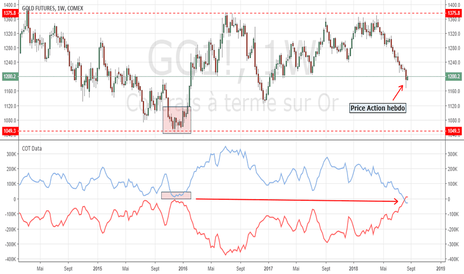 GC1!: Analyse COT de GOLD - GOLD COT Analysis