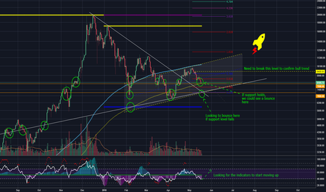 BTCUSD: BTCUSD at a crucial bounce level. Can the Rocket Take off