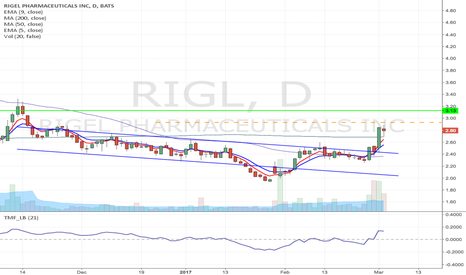 RIGL: RIGL - Flag formation Long from $0.90 to $3.13 & higher