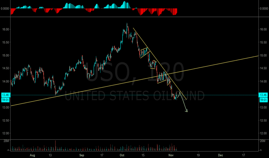 USO: USO! when oil starts the bear move it's one of the easiest trade