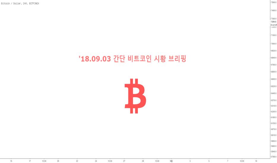 BTCUSD: '18.09.03 간단 비트코인 시황 브리핑