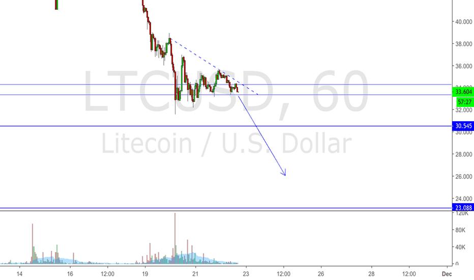 LTCUSD: Litecoin Bounce may happen at 26-24$