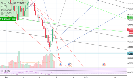 BTCUSD: BTC further decline to $5000
