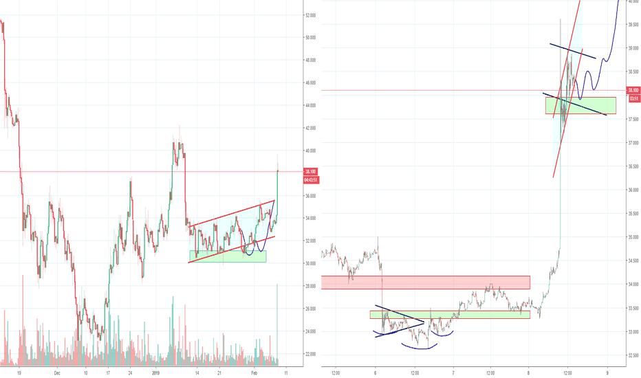 LTCUSD: Litecoin LTC Bear flag and H&S, Part 5