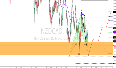 NZDCAD: NZDCAD  1H级别的蝙蝠模式和结构的共振  且出现PB 直接做多止损于结构下方  40点止损