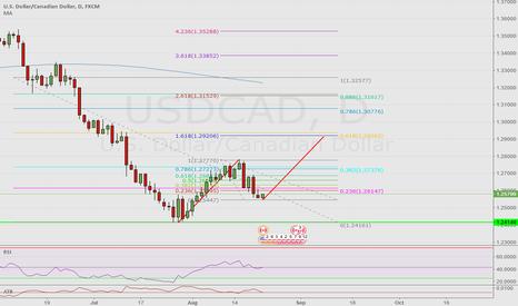 USDCAD: USD/CAD D Fibs