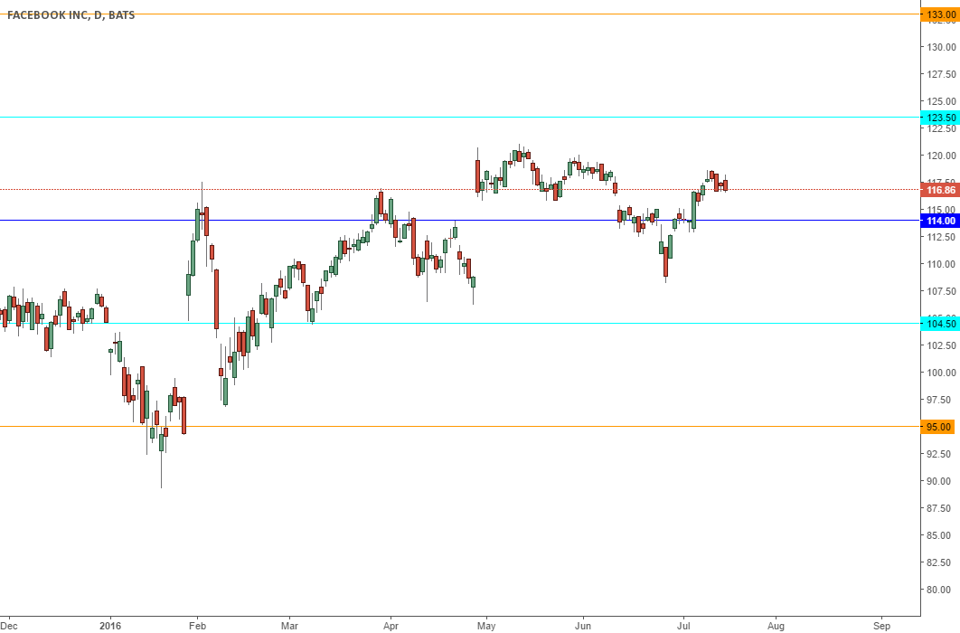 Facebook bulls needs to hold above 114
