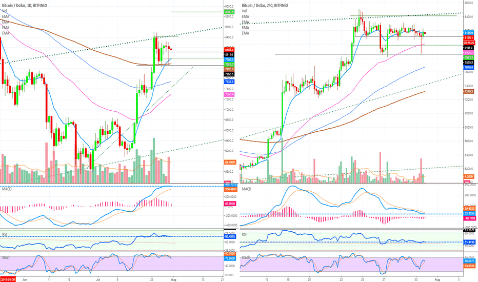 BTCUSD: Bitcoin Remains Strong: Consolidation Continues ($8800+ Next)