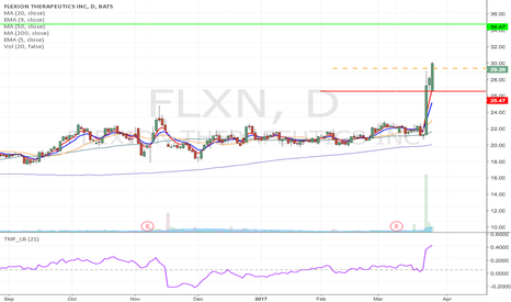 FLXN: FLXN - Flag formation Long from $28.53 to $34.37